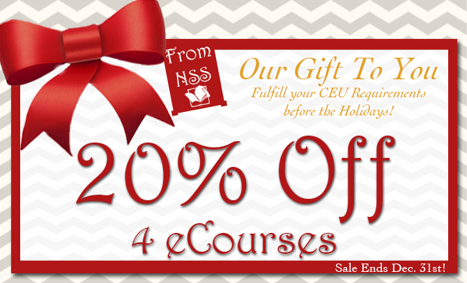 Our Gift To You - 20% off 4 eCourses Starts Today!